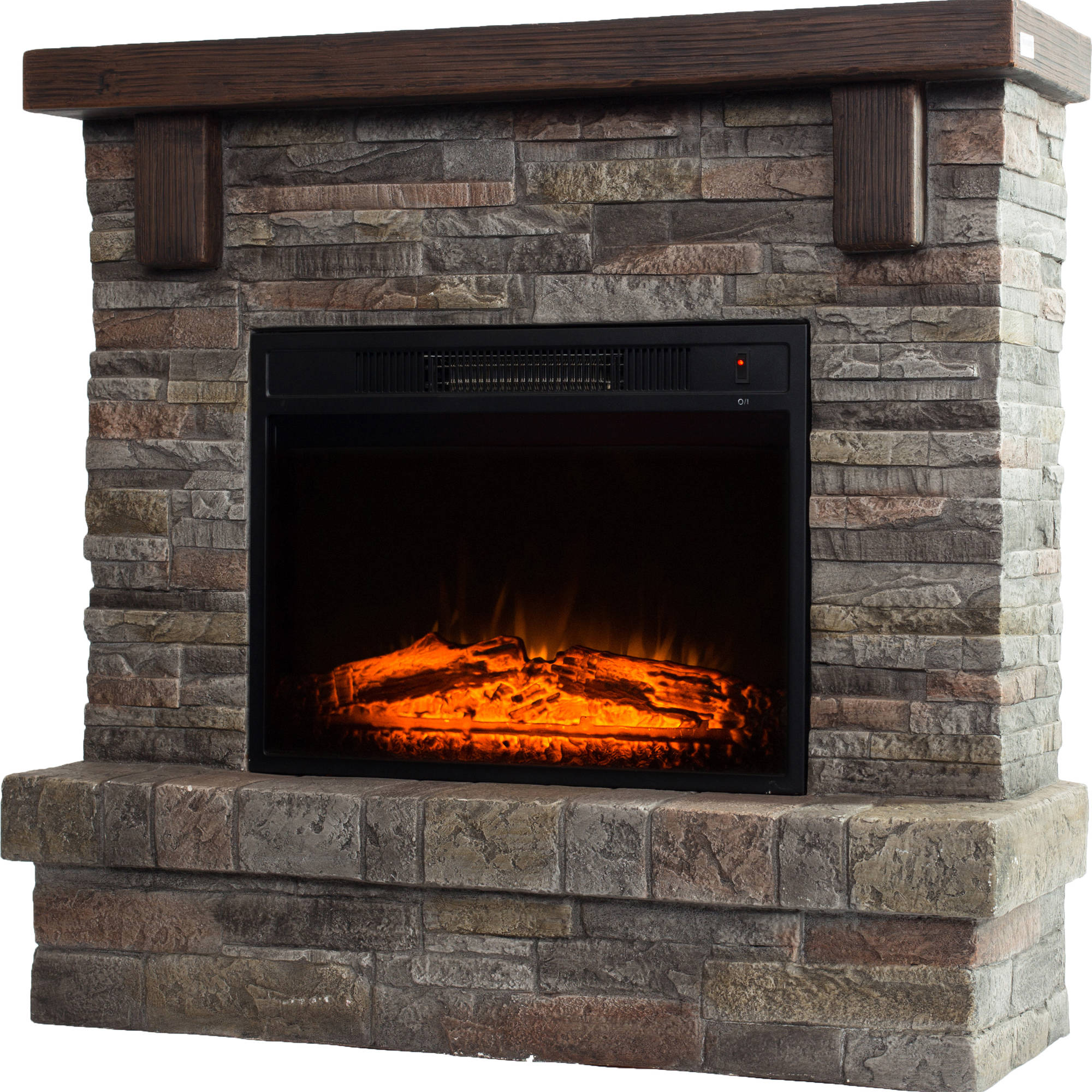 "Buy Decor-Flame Electric Fireplace with 41"" Mantle at Walmart.com"
