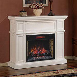 Classicflame 28wm426 T401 Artesian Wall Fireplace Mantel White