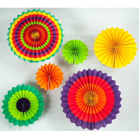 Quasimoon Fiesta Paper Flower Pinwheel Backdrop Party Wall ...