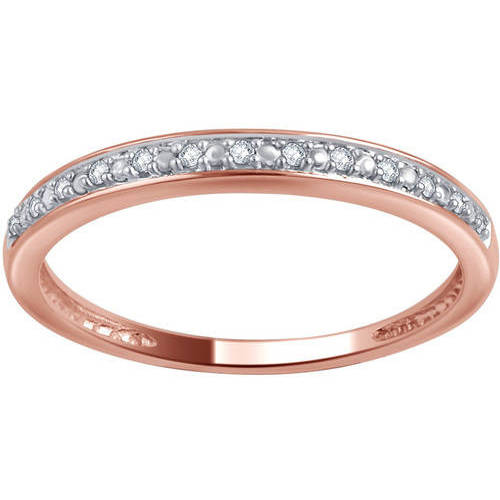 10kt Gold Round Diamond Accent Wedding Band, I-J/I2-I3