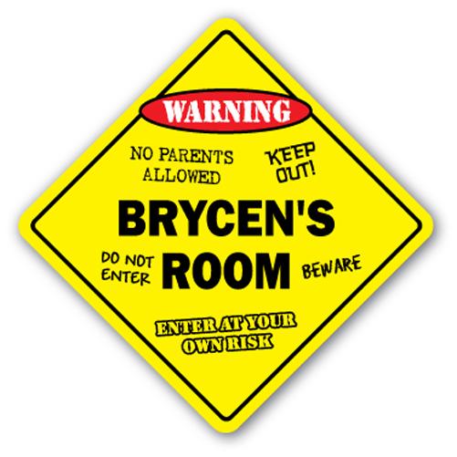 BRYCEN'S ROOM SIGN kids bedroom decor door children's name boy girl gift by SignMission