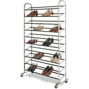 Whitmor 50-Pair Shoe Tower, Chrome