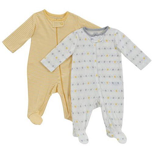 Child of Mine by Carter's Newborn Baby Unisex Sleep n' Play, 2-Pack