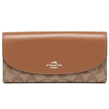COACH Slim Envelope Wallet In (Signature Slim Envelope)