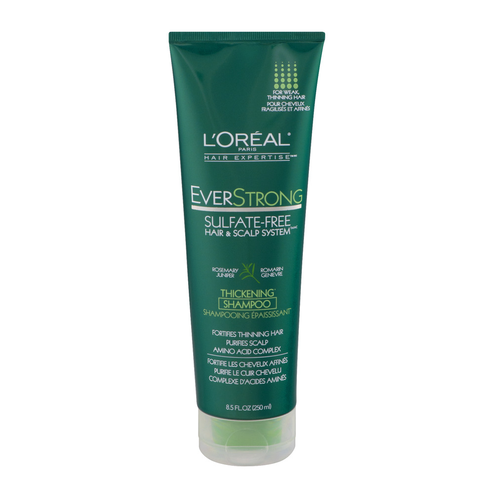 L'Oreal Paris Hair Expertise EverStrong Sulfate-Free Hair & Scalp System Rosemary Juniper Thickening Shampoo, 8.5 FL OZ