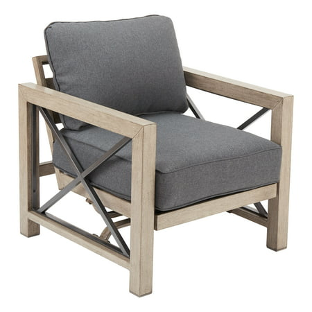 Better Homes & Gardens Remsen 2-Piece Patio Lounge Chair Set with Gray Cushions ()