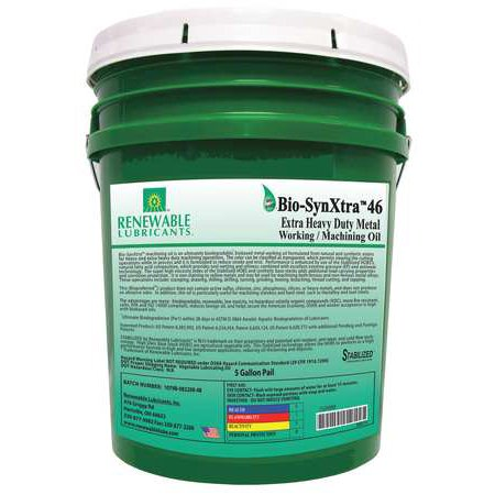 RENEWABLE LUBRICANTS 86874 Cutting Oil,5 gal,Bucket ()