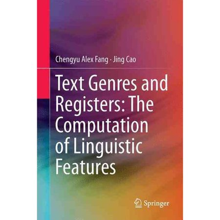 Text Genres And Registers  The Computation Of Linguistic Features