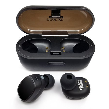 Photive True Wireless Bluetooth Earbud Headphones HD Sound, In-ear Comfortable & Secure Fit, Sweatproof, Long Lasting Battery, Perfect Bluetooth for Android &