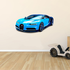 Bugatti Veyron Sports Car 3D Hole in The Wall C Effect Wall Sticker Art Decal...
