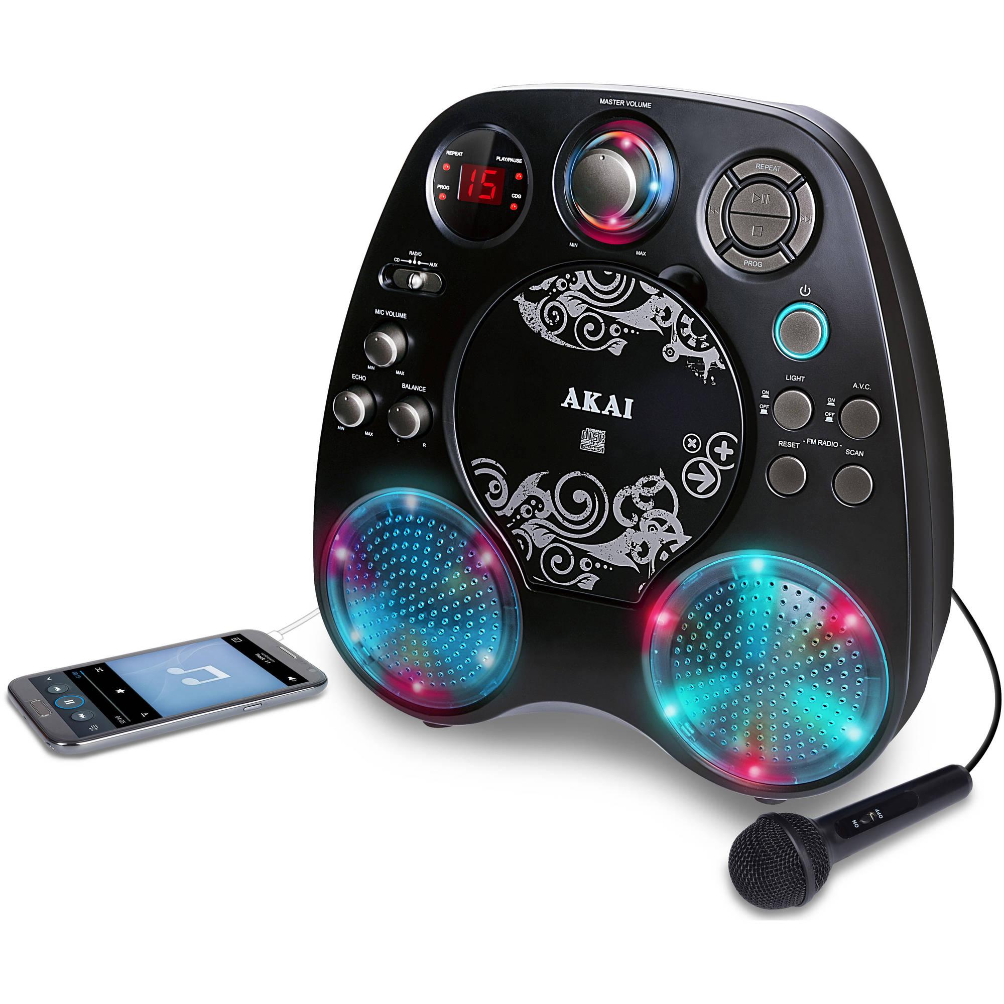 Akai KS390 Karaoke Player with Light Effects