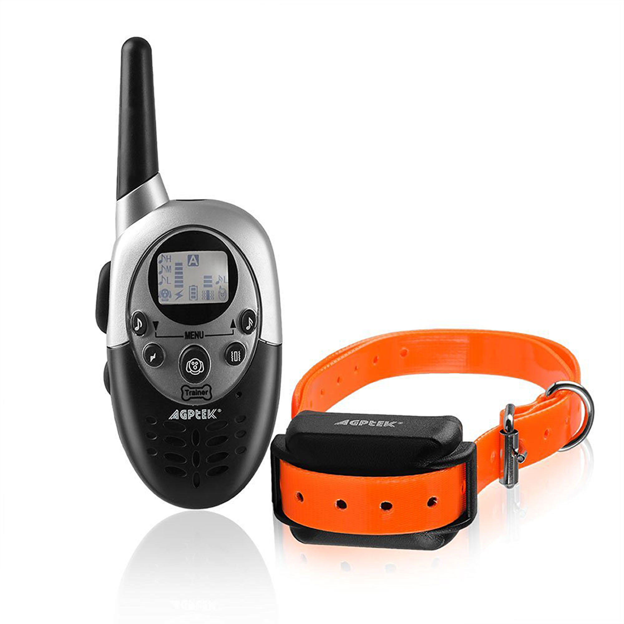 AGPtek Rainproof Dog Shock Training Collar 1000 Yard Vibration Collar w/ Rechargeable Remote