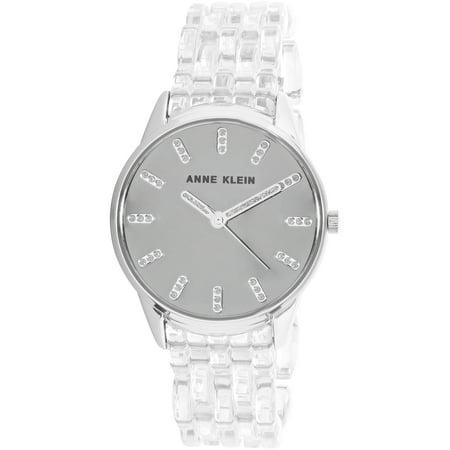 Anne Klein Tie - Anne Klein Women's AK-2617CLSV Silver Resin Japanese Quartz Fashion Watch