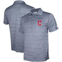 Men's Stitches Navy Cleveland Indians Team Logo Polo