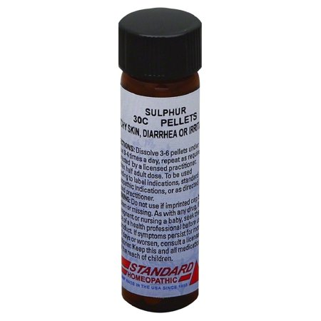 Hyland's Sulphur 30C Pellets, Natural Relief of Itchy Skin, Diarrhea or Irritability, 160