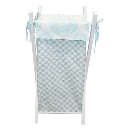 Sweet & Simple Aqua Blue Hamper by Cotton Tale Designs