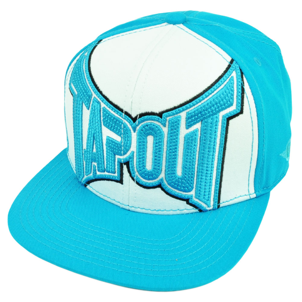 Tapout MMA UFC Martial Arts Snapback Flat Bill Hat Cap Cage Fighting Blue White