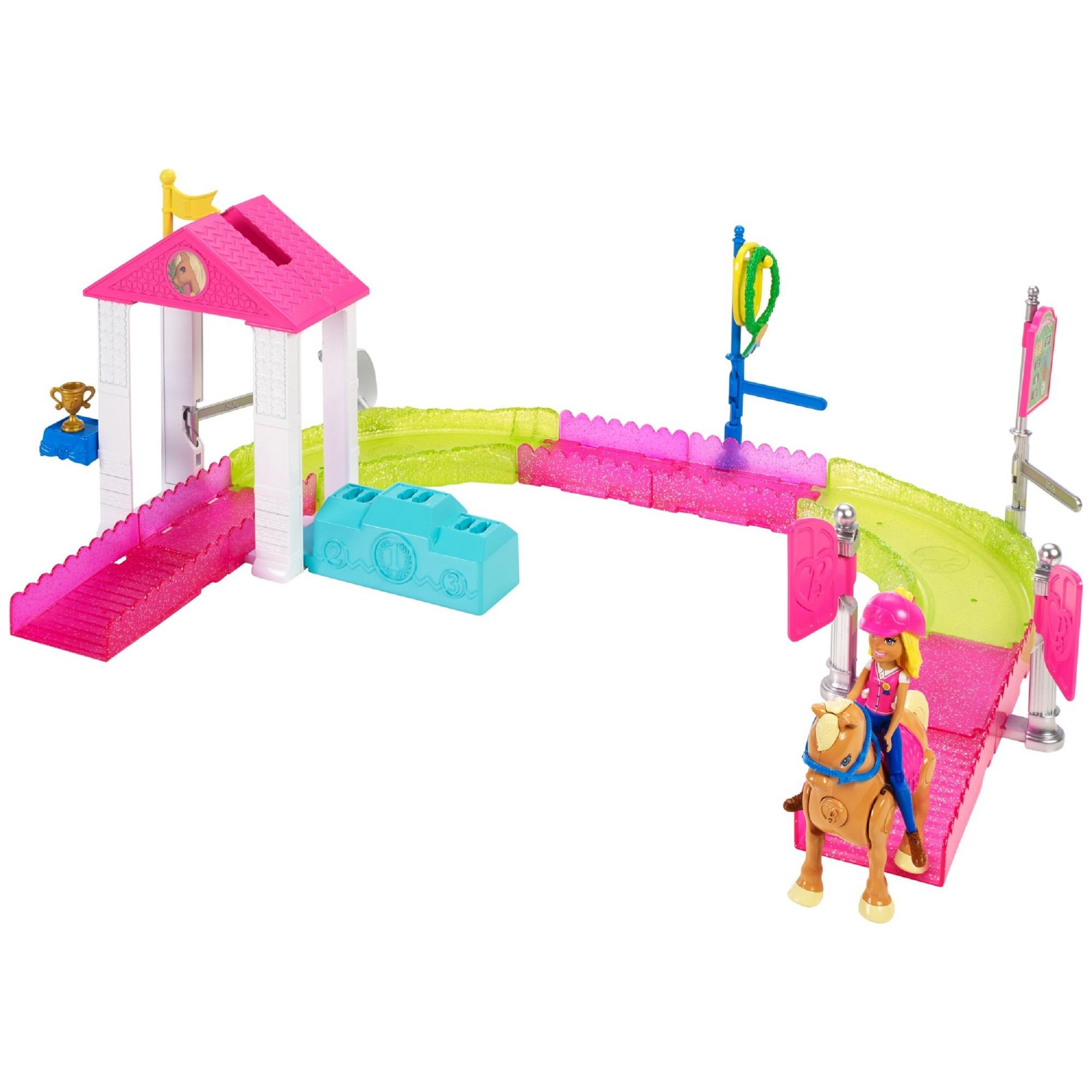Barbie On The Go Pony Race Playset by Mattel