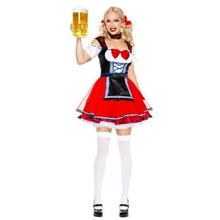 Music Legs 70891-SM 3 Piece Oktoberfest Beer Babe Costume, Small & Medium (Beer Babe Costume)
