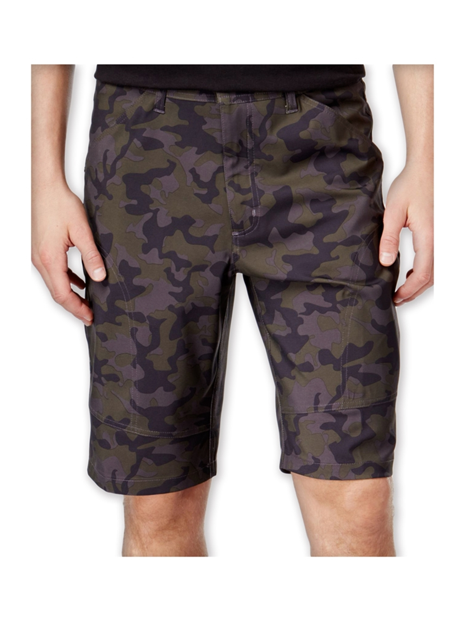 hawke & co. mens flat-front tech casual cargo shorts
