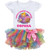 Bubble Guppies Girls Birthday Personalized Rainbow Tutu Tee - 2T, 3T, 4T, 5/6T
