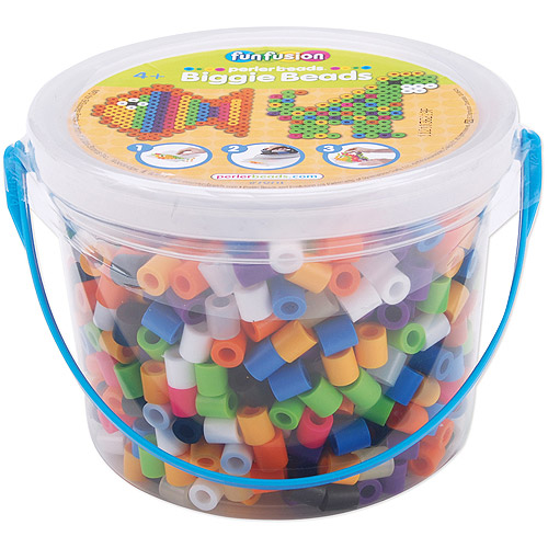 Perler Fun Fusion Biggie Bead Bucket, 1200-Pack, Assorted Colors