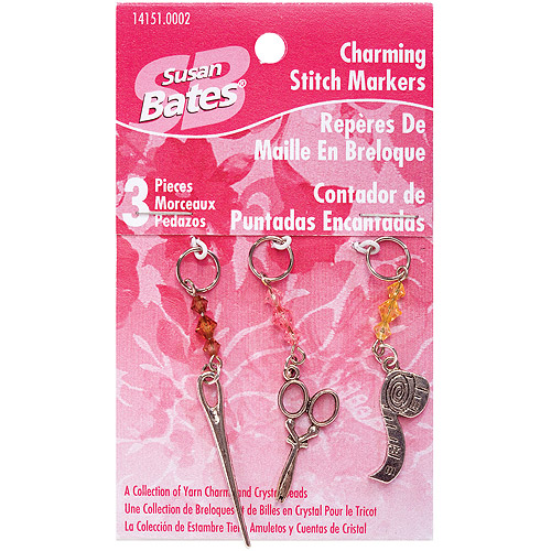 Susan Bates Charming Stitch Markers, 3-p