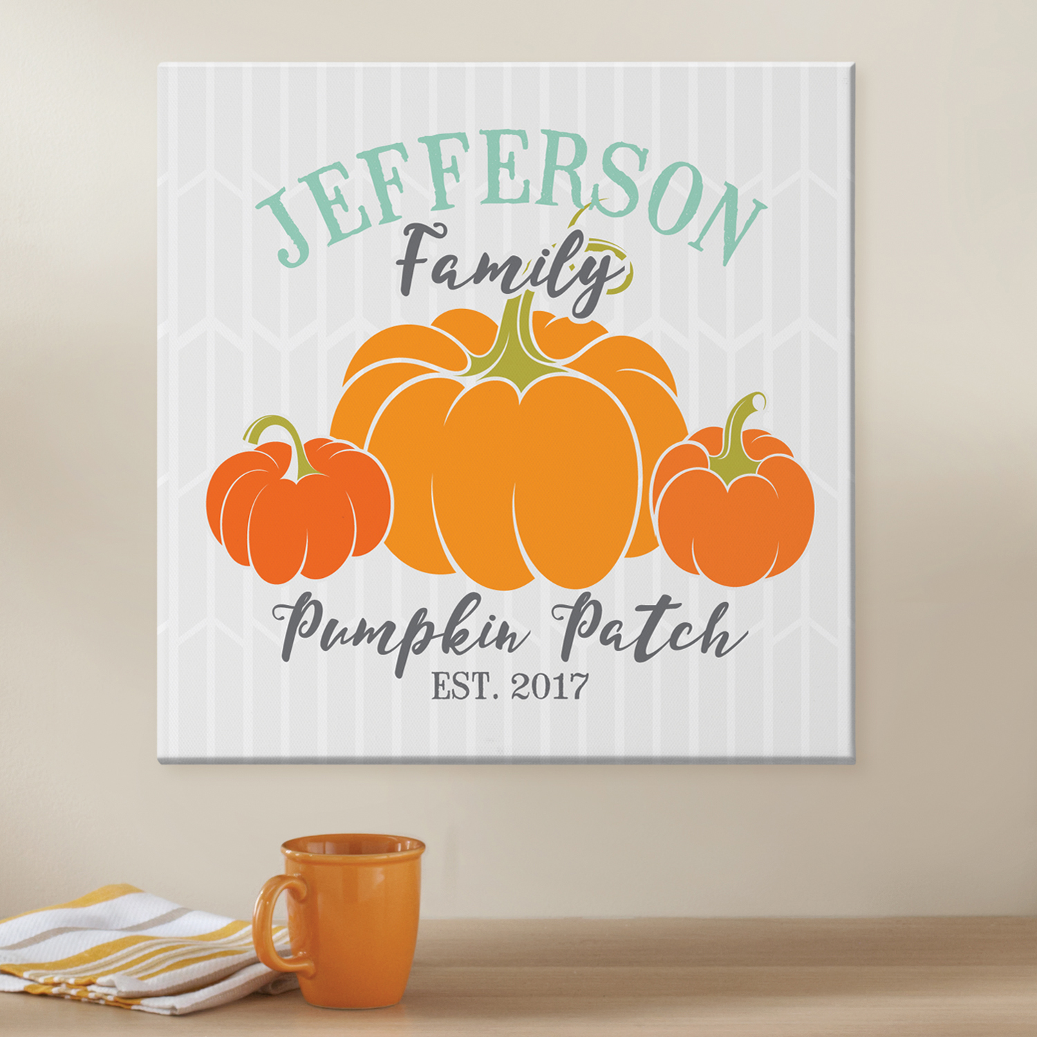Personalized Family Pumpkin Patch Canvas