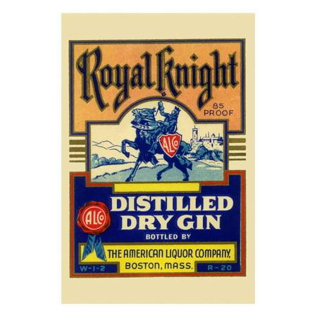 Royal Knight Distilled Dry Gin Print Wall Art