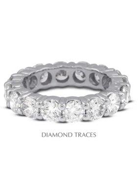 UD-EWB100-0431 18K White Gold 4-Prong Setting, 1.41 Carat Total Natural Diamonds, Classic Eternity Ring