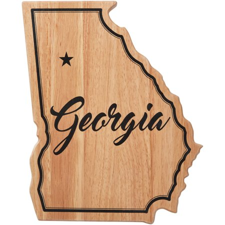 Farberware Georgia Stat Shaped Rubber Wood Cutting Board ()