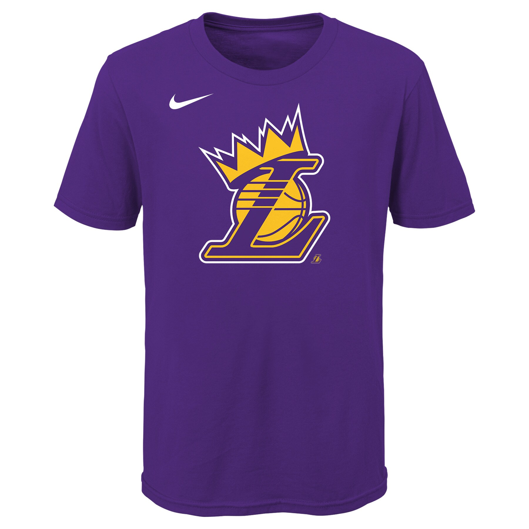 Nike - Los Angeles Lakers Nike Youth Lakers Crown T-Shirt - Purple ...