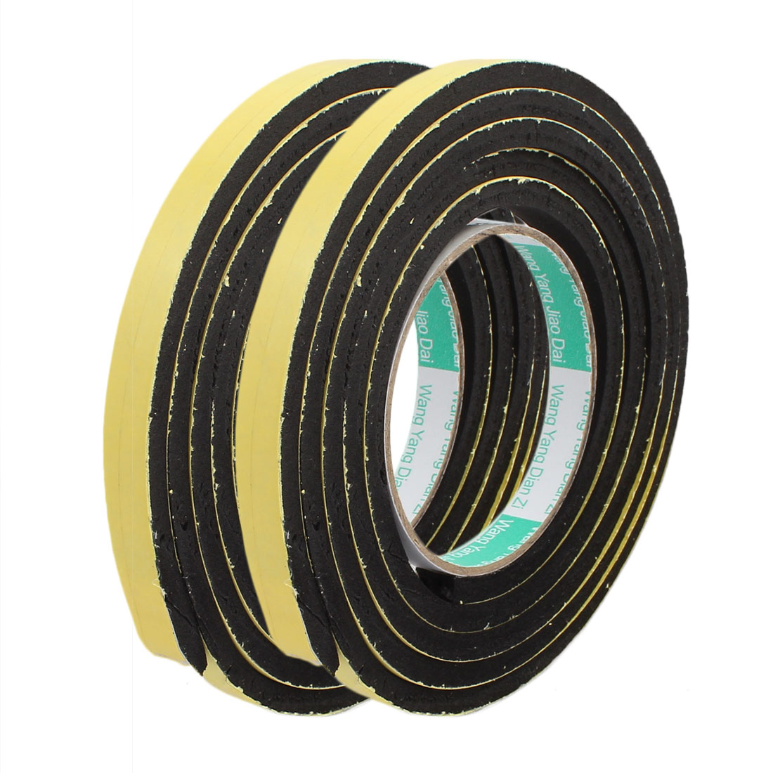 2Pcs 1.2cm Width 2m Length 6mm Thick Single Sided Sealing Shockproof Sponge Tape