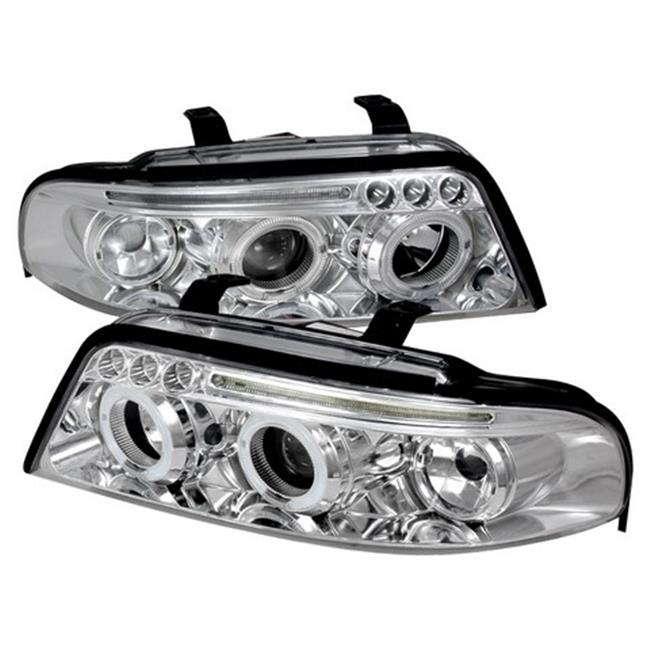 Spec-D Tuning LHP-A400-TM Halo LED Projector Headlights for 00 to 01 Audi A4, Chrome - 11 x 21 x 25 in. - image 1 de 1