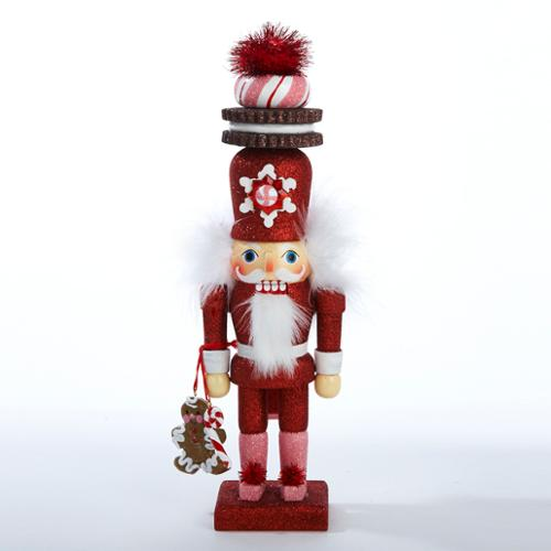 "12"" Hollywood Nutcracker Red & Pink Gingerbread Cookie Christmas Figurine"