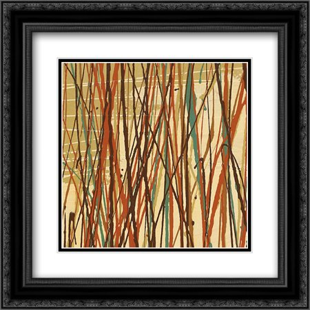 Contempo II 2x Matted 20x20 Black Ornate Framed Art Print by Prentice, Susan