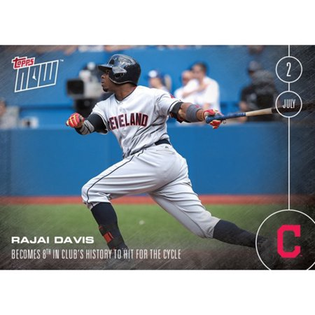 Mlb Cleveland Indians Rajai Davis  202 2016 Topps Now Trading Card
