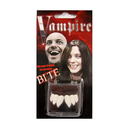 Vampire Fangs Teeth Dracula True Blood Fake False Costume Accessory (Halloween Fake Blood)