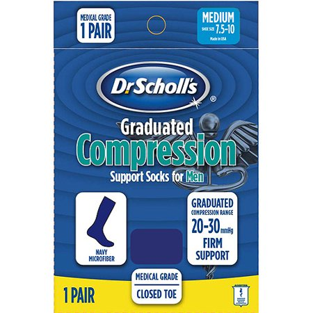 Dr  Scholls Mens Microfiber Medical Grade Firm Compression Socks 1 Pack