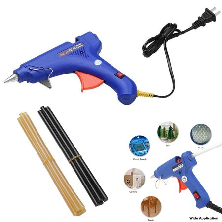 Upgraded Version Hot Melt Glue Gun with 20pcs Glue Sticks Glue Gun Kit for DIY Small Craft Projects&Sealing and Christmas Decoration/Gifts (Hot Melt Glue Gun)