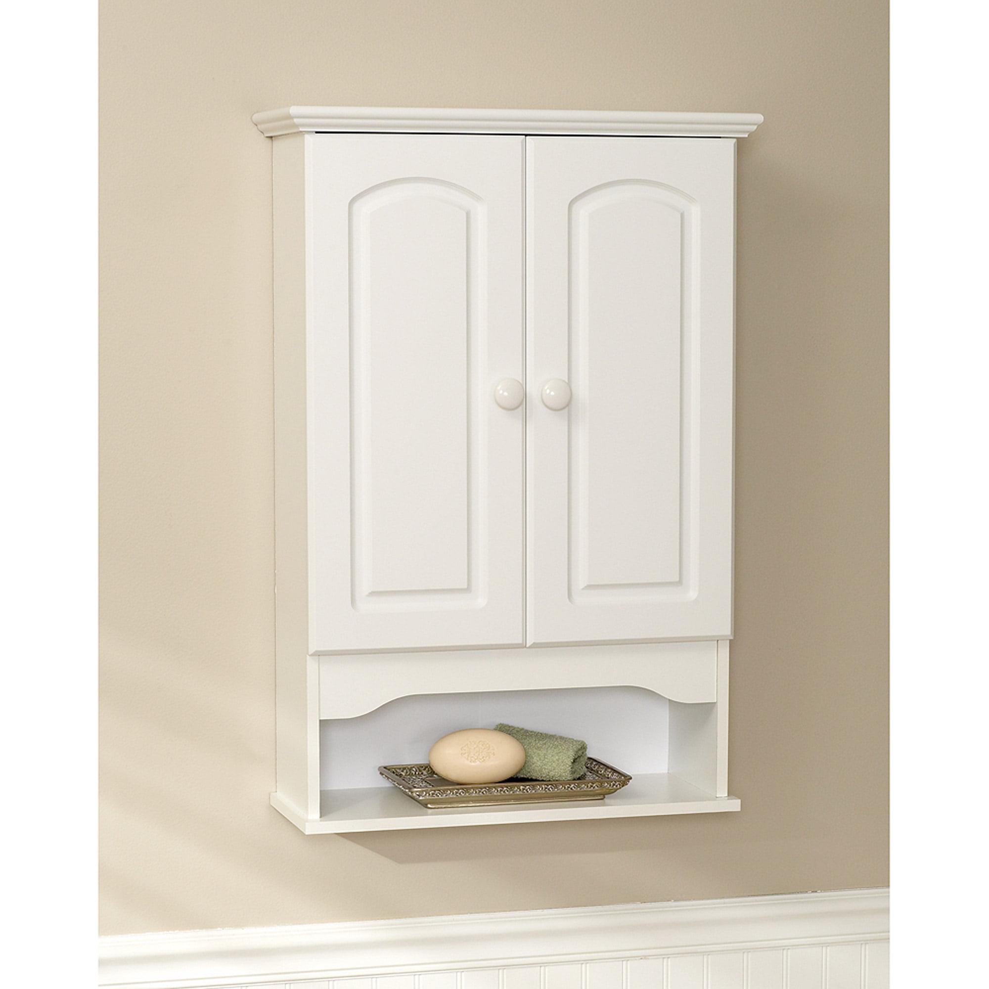 Classic Hartford Wall Cabinet, White - Walmart.com