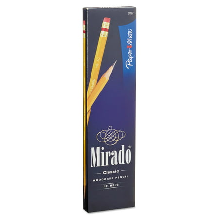 Paper Mate Mirado Woodcase Pencil, #2 HB, Yellow, 12-Count