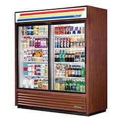 "True GDM-61 - 70"" Glass Door Reach In Refrigerator"