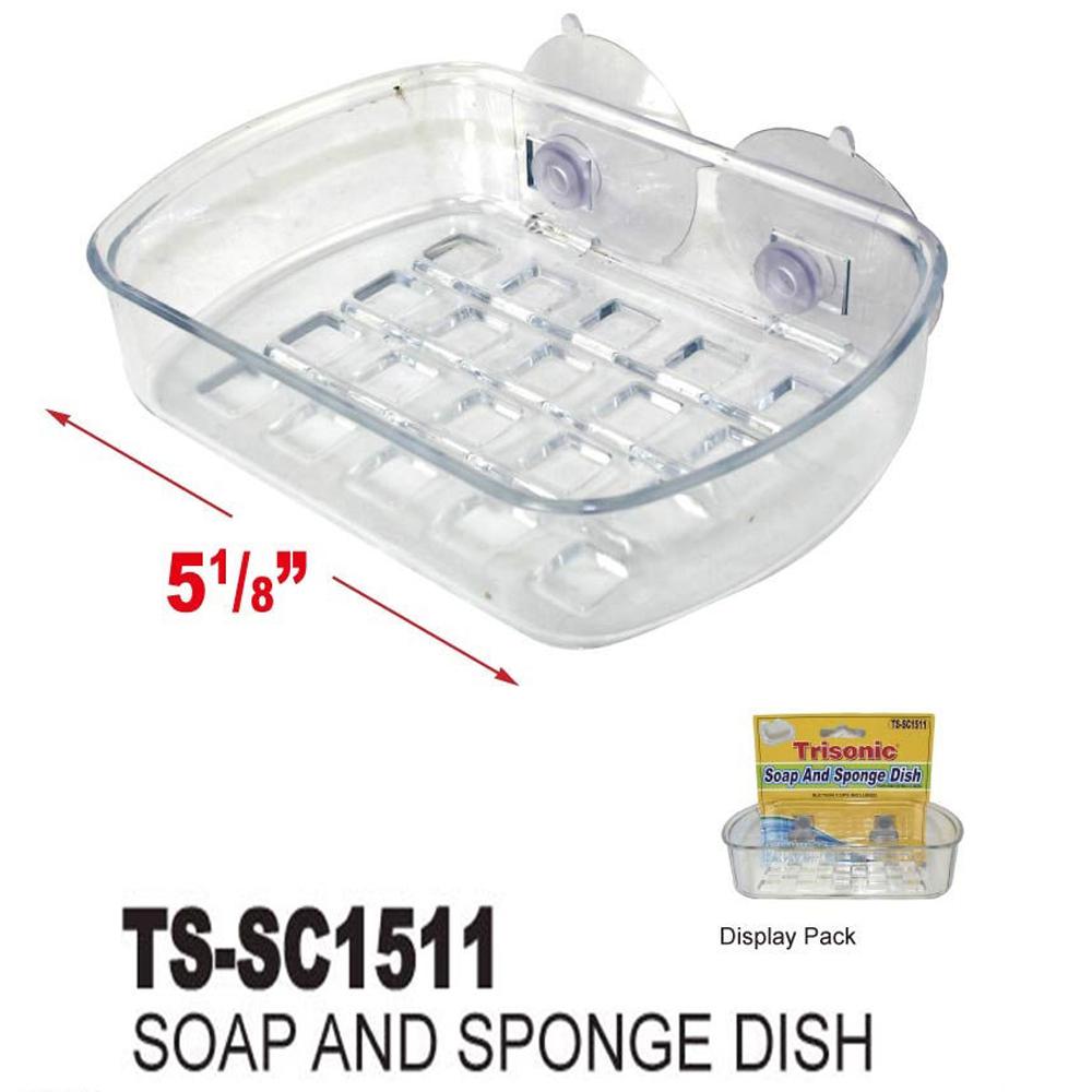 Soap Dish Suction Wall Holder Bathroom Shower Cup Sponge Dish Basket Tray Sink