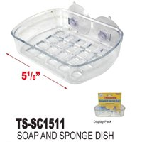 Soap Dish Suction Wall Holder Bathroom Shower Cup Sponge Dish Basket Tray Sink