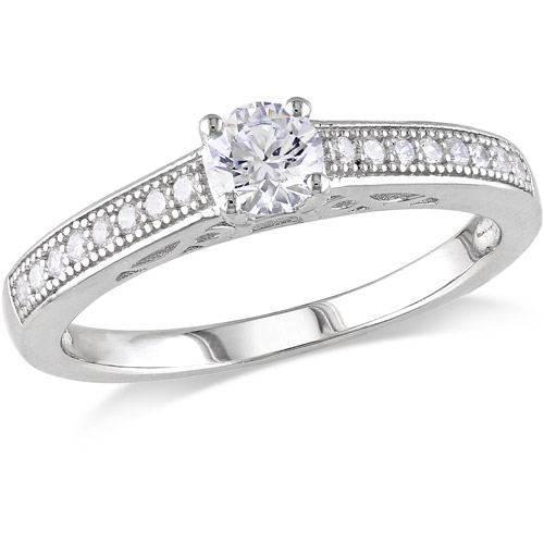 miabella 1 carat t g w cz sterling silver engagement ring