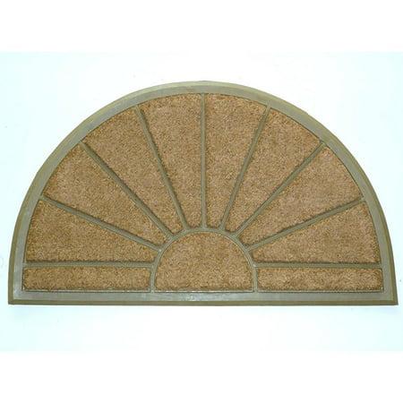 Geo Crafts Rubber Back Sunburst Hr Doormat 24 X 39 Inch