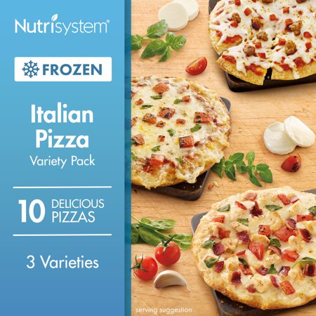 Jack Pizza - Nutrisystem Frozen Italian Pizza Variety Pack, 10CT
