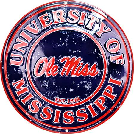Ole Miss Rebels Circle Sign