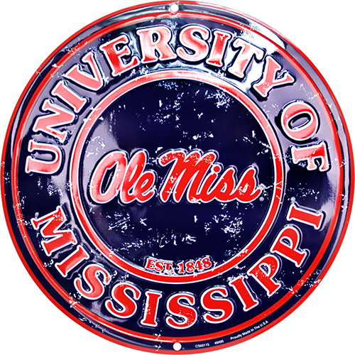 Ole Miss Rebels Circle Sign